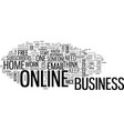 basic online business techniques text word cloud vector image vector image