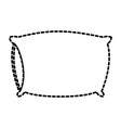 bed pillow dotted silhouette on white background vector image