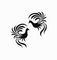 bird design logo vector image vector image