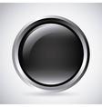 Black button Label design graphic vector image