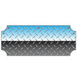 brilliant chrome diamond plate metal sign vector image