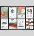 brochure template with infographics vector image vector image