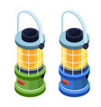 camping lantern or gas lamp isometric icon vector image vector image