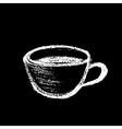 coffee chalk vector image vector image