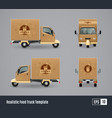 coffee truck realistic design vector image