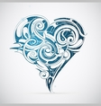 Cold heart with frost ornament vector image