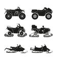 collection silhouettes atv vector image