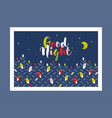 cute sleeping birds for good night card or poster vector image