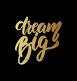 dream big lettering motivation phrase for poster vector image
