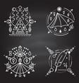 esoteric symbols thin line geometric badge vector image vector image