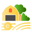 farm on field flat icon garden color icons in vector image