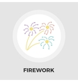 Firework flat icon vector image