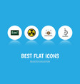 flat icon science set of electrical engine glass vector image vector image