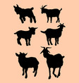 funny goat animal silhouette vector image vector image