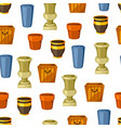 garden pots seamless pattern with various color vector image vector image