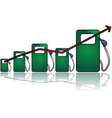 Gas prices vector image