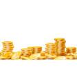 golden coins stacks lots money finance business vector image