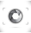 Gray stylized camera shutter diaphragm vector image vector image