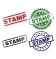 grunge textured stamp seals vector image vector image