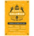 halloween celebrations vintage label on the vector image