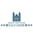 Happy New Year Salvador vector image vector image