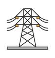high voltage electric line color icon vector image vector image