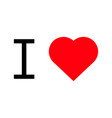i love popular symbol heart vector image