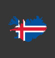 iceland flag and map vector image