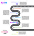 info business plan navigation loop map bend road vector image