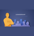 leadership template man with arms crossed vector image
