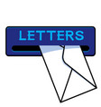 letter or mail slot vector image vector image