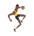 male african american basketball player vector image vector image