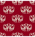 Maroon and white seamless floral pattern vector image vector image