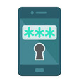 mobile security flat icon security smartphone vector image