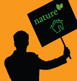 nature eco house color vector image vector image
