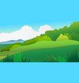 nature landscape scene with sky background vector image vector image