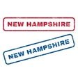 New Hampshire Rubber Stamps vector image