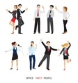Office party people set flat vector image vector image
