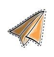 Paper plane origami vector image vector image