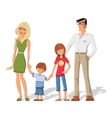 Parents With Children Characters Set vector image vector image