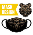 protective mask design with bear print