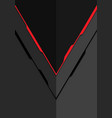 red line arrow on grey metal design modern vector image vector image