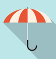 Retro Flat Design Umbrella vector image vector image