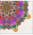 round pattern in ukrainian oriental ethnic style vector image