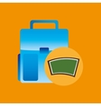 school board icon bag design vector image vector image