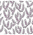 seamless pattern with stylized heather vector image vector image