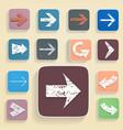 set arrows in vintage style vector image vector image