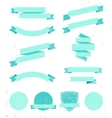 set empty retro ribbons banners and vector image