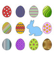 set for easter vector image vector image