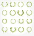 set of crown laurel wreaths vector image vector image
